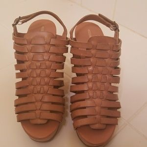 Mossimo Supply Brown Wedges